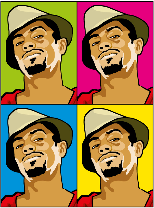 Cool guy pop art